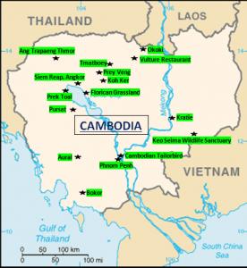 Cambodia Birding sites
